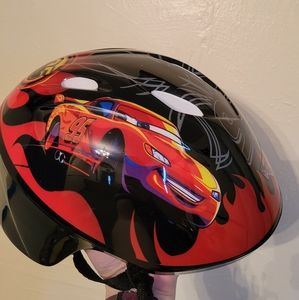 2/$10 Cars Toddler Bike Helmet Disney Worn Once